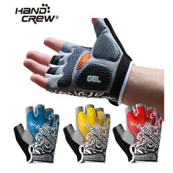 Hand Crew Unisex Adult Road Mountain Cycling Bike Half Gloves w 3D Gel Pad Palm $14.50
