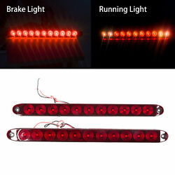 2PCS Red 11 LED Stop Brake Turn Tail 15