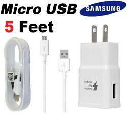 OEM Samsung Galaxy S6 S7 Edge Note 5 Original Fast Wall Charger Micro USB Cable $4.99