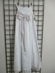 NWT THE BAILEY BOYS===SIZE 8===LONG WHITE EMBROIDERED BEACH PORTRAIT DRESS==LK $17.50