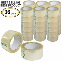 36 Rolls Clear Packing Packaging Carton Sealing Tape 2.0 Mil Thick 2x110 Yards $37.69