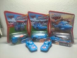 MOC Pixar Cars Dinoco Set of 3: Helicopter The King Pitty 2 loose cars $35.00