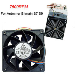 7500RPM Cooling Fan Replacement 4-pin Connector For Antminer Bitmain S7 S9 $13.97