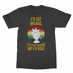 Rick and Morty vintage I'm not arguing Men#x27;s T Shirt $12.49