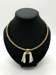 RARE LIMITED ED Authentic Cartier Trinity 18k gold necklace with pearl pendant