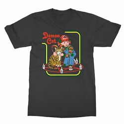 Caring for your Demon Cat Steven Rhodes Funny Cult Men#x27;s T Shirt $12.49