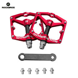 RockBros Bicycle Pedals Road Bike MTB Carbon Fiber Sealed Bearings Pedals Red $32.99