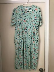 Women's Sun Dress Large by White Stag Spring Summer Cotton Dress with Pockets