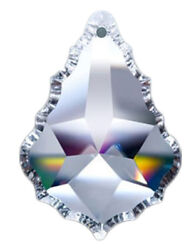 Set of 5 76 mm Clear Asfour Crystal 911 Pendeloque Crystal Prisms 1 Hole $15.80