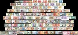 100 Pcs of Different Unique World Foreign Mixed Banknotes Currency Unc + List $29.99