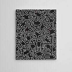 16X20quot; Gallery Art Canvas: Contemporary Keith Haring Framed Hip Hop quot;Dancersquot; $35.00
