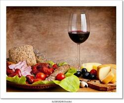 Traditional Food And Wine Art Canvas Print. Poster Wall Art Home Decor D $46.95