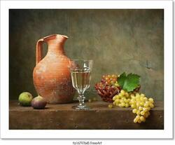Still Life With White Wine Art Canvas Print. Poster Wall Art Home Decor C $46.95