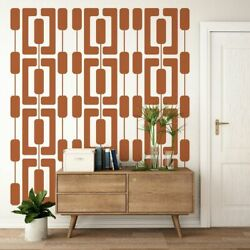 Mid Century Modern Decor Interior Wall Decor Modern Wall Decals $45.00