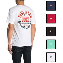 True Religion Men#x27;s 2002 TR Logo Graphic Tee T Shirt $25.00