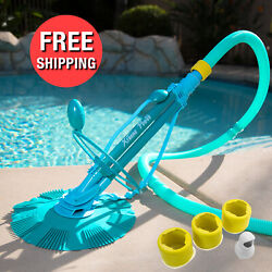 Automatic Swimming Pool Vacuum Cleaner Ground Above Ground w Complete Hose Set $119.95