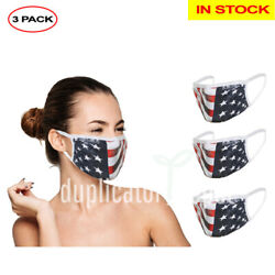 Washable Reusable Face Mask (In Stock) - Double Layer - 3 Pack, Ships From USA $16.95