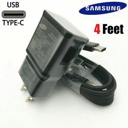 OEM Samsung Galaxy Note10 S9 S8 Plus Original Fast Wall Charger 4FT Type C Cable $8.48