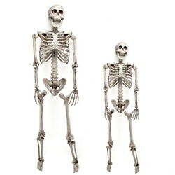 3 5.6ft Halloween Skull Skeleton Poseable Human Full Life Size Prop Party Decor $18.96