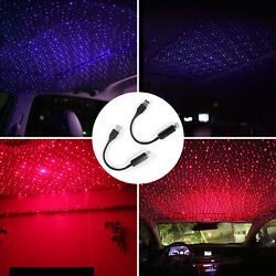 USB Car Interior Atmosphere Starry Sky Lamp Ambient Star Light LED Projector $8.49