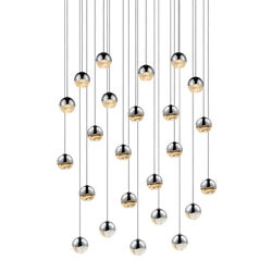 Sonneman 2918.01-SML Grapes 24-Light Round Small LED Pendant In Polished Chrome