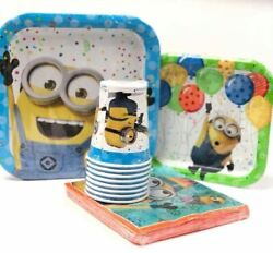 Minions Combo Party Express Pack for 8 Guests Cups Napkins amp; Plates $10.95