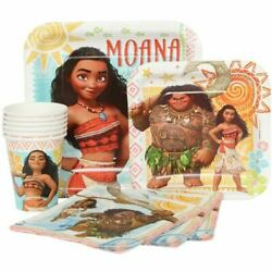 Disney Moana Combo Party Express Pack for 8 Guests Cups Napkins amp; Plates $10.95
