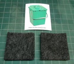 Filters for Exaco ECO 2000 compost pail set of two filters activated carbon $7.88