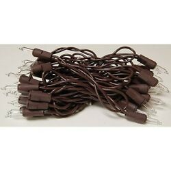 20 Ct Count Christmas Lights Brown Wire Cord Light Set Primitive Farmhouse Craft