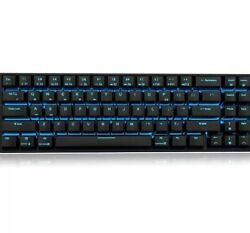 RK71 Mechanical Keyboard 71 Keys Blue Backlit Compact Gaming Red Switch $78.89
