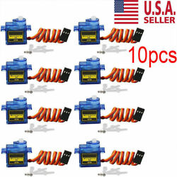10X 9G SG90 Micro Servo Motor For RC Robot Helicopter Airplane Aircraf Car Boat $14.09