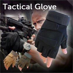 Military Tactical Gloves Half Finger Fingerless Gloves Cycling Motorcycle Gloves $12.99