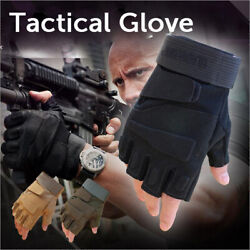 Tactical Fingerless Gloves for Motorbike Cycling Climbing Hiking Hunting Gloves $12.99