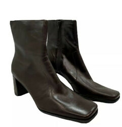 New Nine West Boots Leather Sz 8.5 M Brown New No Box Reach Out $29.74