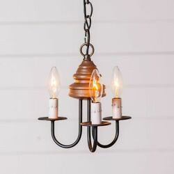 3 Arm Bellview Wood Country Chandelier in Rustic Brown. Country Chandelier $199.45