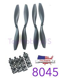 4 pairs Black 8045 8x4.5 CW CCW Propeller Quad rotor Quadcopter US SELLER SHIP $7.99