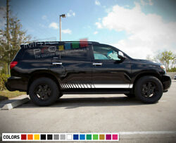 Side Stripe Decal Sticker Kit for Toyota Sequoia Road Spare 4x4 Roof Rack 2017 $44.99