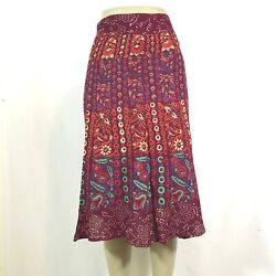 Indian Mandala Boho Hippie Printed Wrap Around Skirt Rayon MAROON $15.99