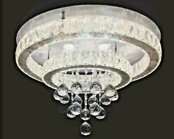 Modern Chandelier Crystal Glass Dimmable LED Ceiling Light With Remote Control $269.98