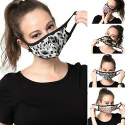 Womens Fashionable Face Mask Pattern Washable Reusable Cloth Cotton lined Inside $5.95