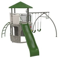 Lifetime Outdoor Playground Swingset Tower Playset Swing Slide Deluxe Adventure