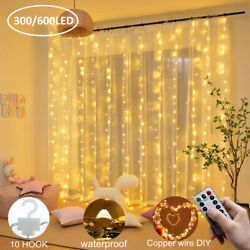 600300 LED USB Copper Curtain Fairy Lights with remote indoor outdoor party US $10.99