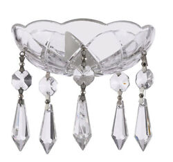 Asfour Crystal 30% Lead Crystal Bobeche Lamp Chandelier Parts With Silver Bowtie $13.90