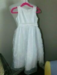 Sweet Kids Size 5 Girl White Dress NWT Wedding Party Formal Pageant Communion $15.29