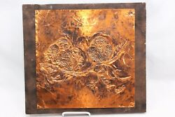 Owl Tin Wall Metal Art 12quot; x 12quot; signed $39.99