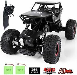 RC Car Toy for Kids 1:14 Remote Control Car 4WD Rechargable Off Road Crawler $33.98