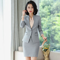 Formal Skirt Suits for Women Business Blazer and Jacket Sets Work Wear OL Styles $48.98
