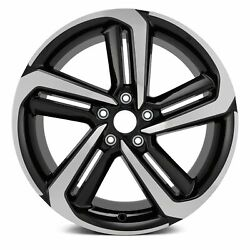 19'' Aluminum Wheel Rim For 2018-2020 Honda Accord 5 Spiral Spoke Black Machined $219.64