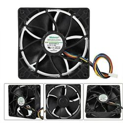 6000RPM Cooling Fan Replacement 4 pin Connector For Antminer Bitmain S7 S9 Black $12.75