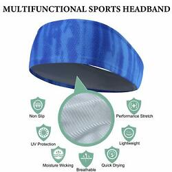 Mens Headband Sports Running Sweat Head Bands Sweatbands Hair Band for Workout $6.99